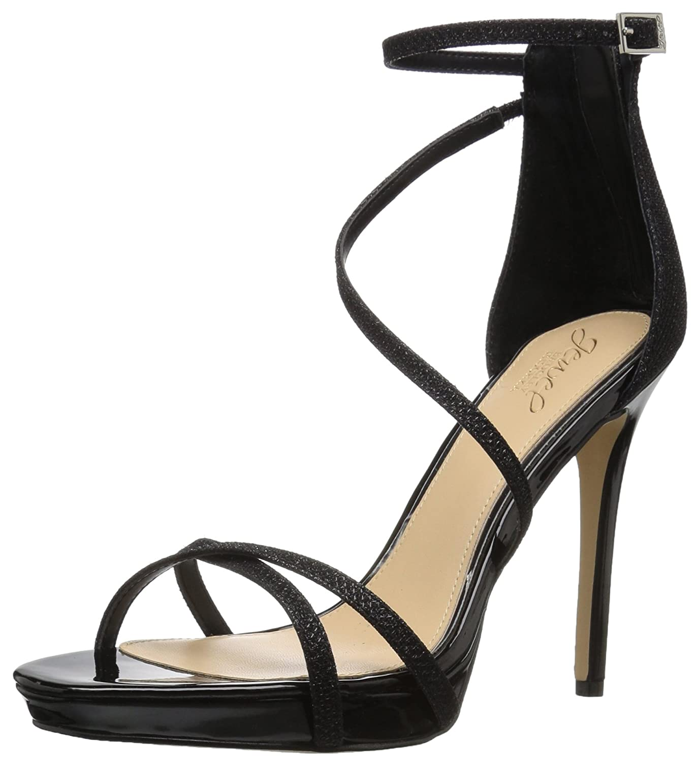 Black Badgley Mischka Womens Galen Heeled Sandal