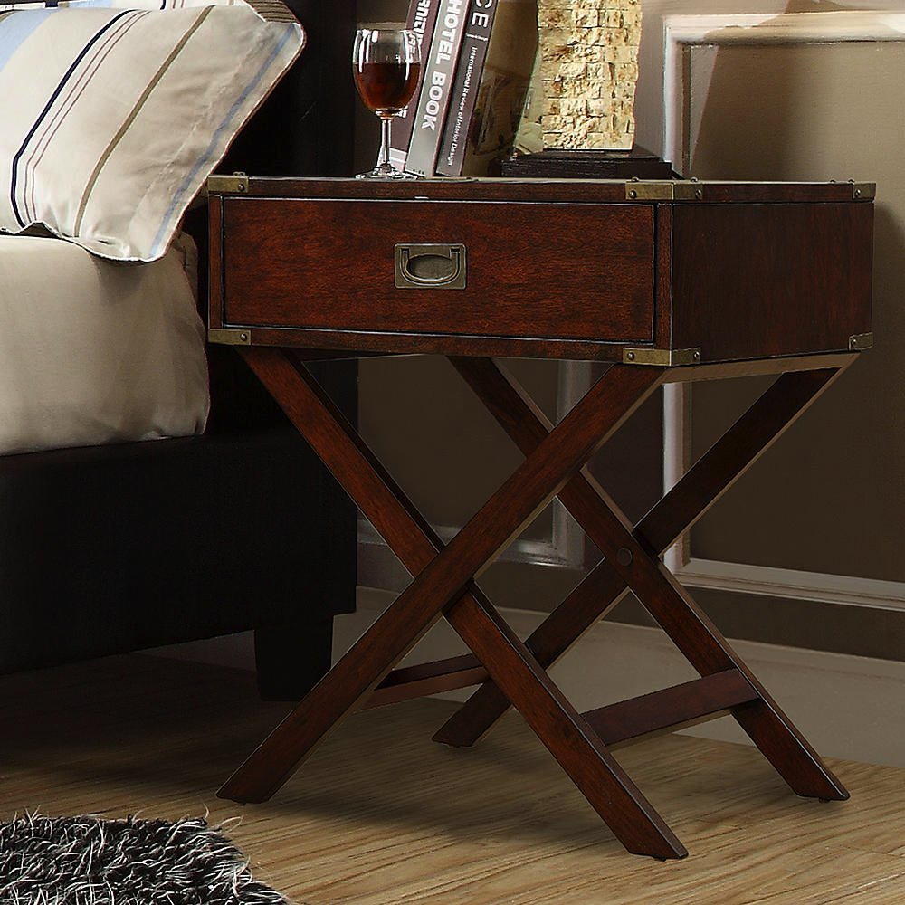INSPIRE Q Kenton X Base Wood Accent Table, Espresso