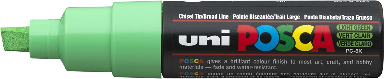 uni-ball Posca PC-8K Cash special price Broad Chisel Reservation Tip Pack Marker - Green Light
