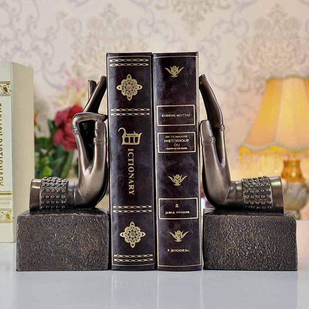 ZXZZX Buchdatei Bergamotte Skulptur Buchst/üTzen Bibliothek Buchdekoration Europ/äIsche Stil Buchst/üTzenAntique Black