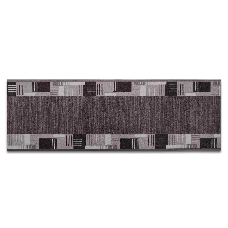 Casa pura pura pura Läufer mit Zeitloser Musterung   grau   Qualitätsprodukt aus Deutschland   GUT Siegel   kombinierbar mit Stufenmatten   3 Breiten und 27 Längen (100x375cm) B013WVVPPM Lufer b4ca90