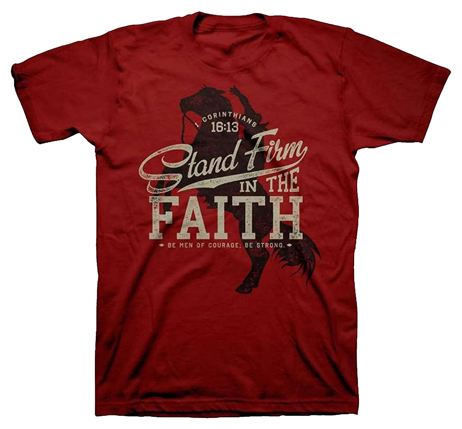 Stand Firm In the Faith Mens Christian Inspirational T-Shirt
