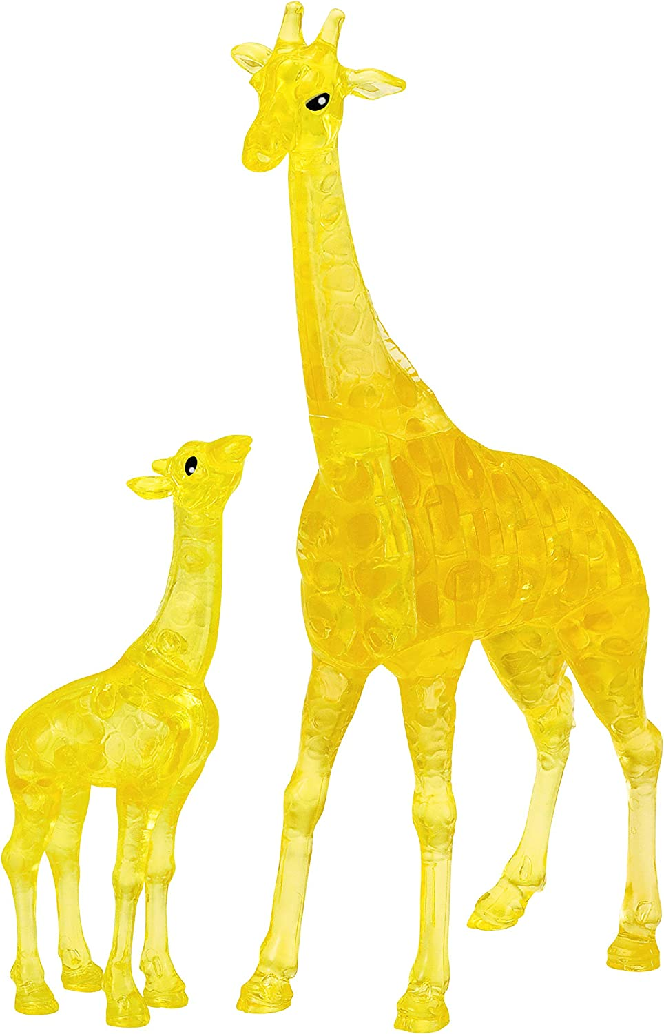BePuzzled Original 3D Crystal Jigsaw Puzzle - Giraffe & Baby Animal Assembly Brain Teaser, Fun Model Toy Gift Decoration for Adults & Kids Age 12 & Up, 38Piece (Level 1)