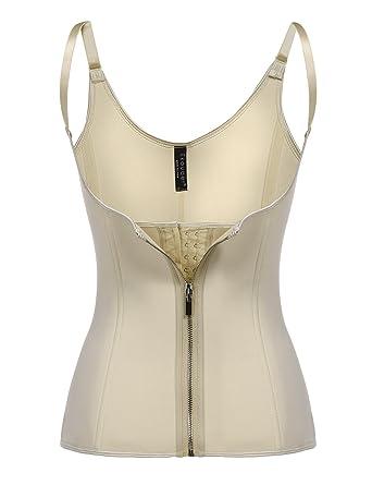 818b4c99cf547 Ekouaer Waist Trainer Women s Underbust Corset Workout Body Shaper Tummy  Fat Burner S-5XL