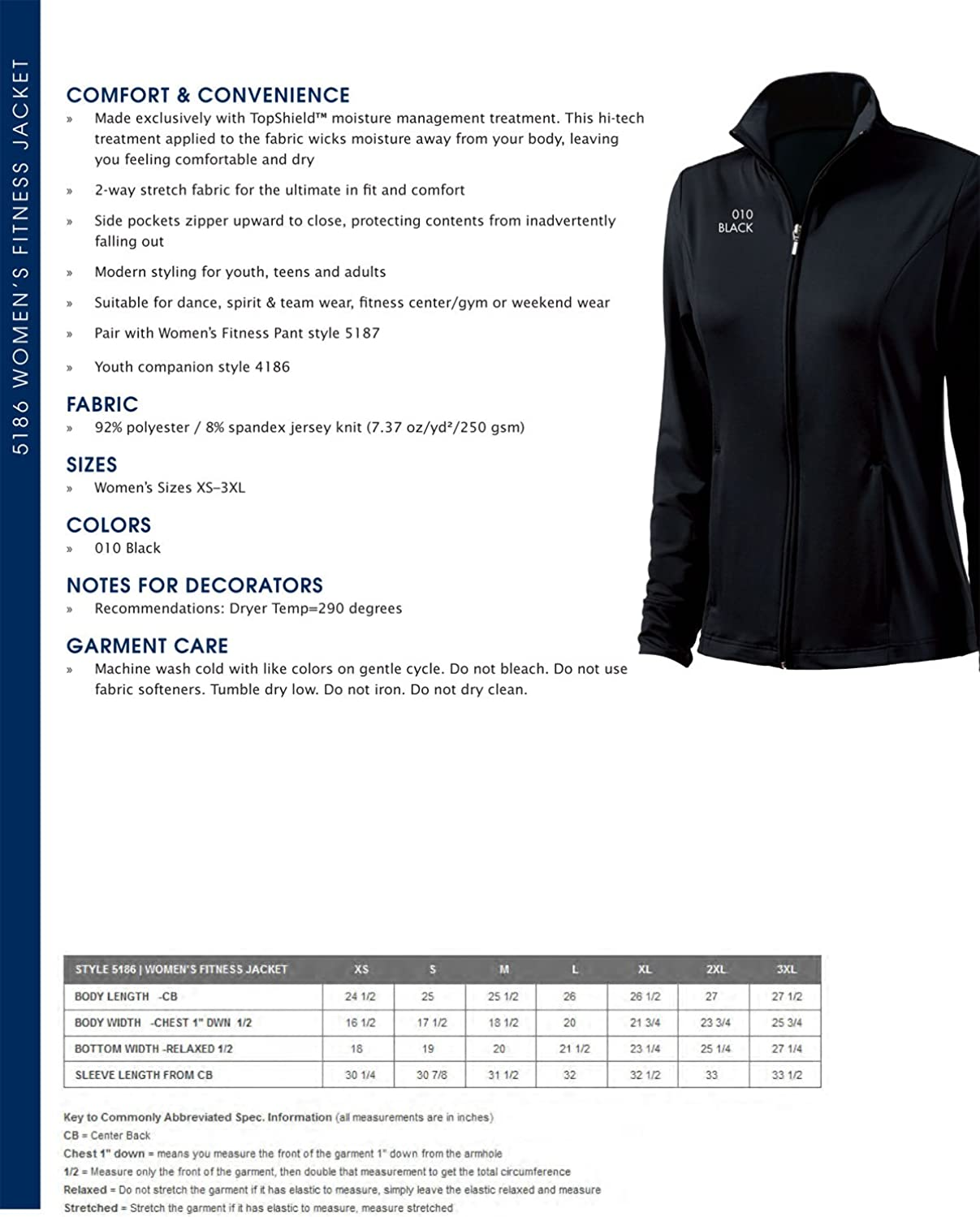 Charles River Apparel Womens Fitness Jacket