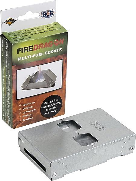 BCB Adventure CN337 - Cocina plegable y cortavientos (Fire Dragons), color plateado