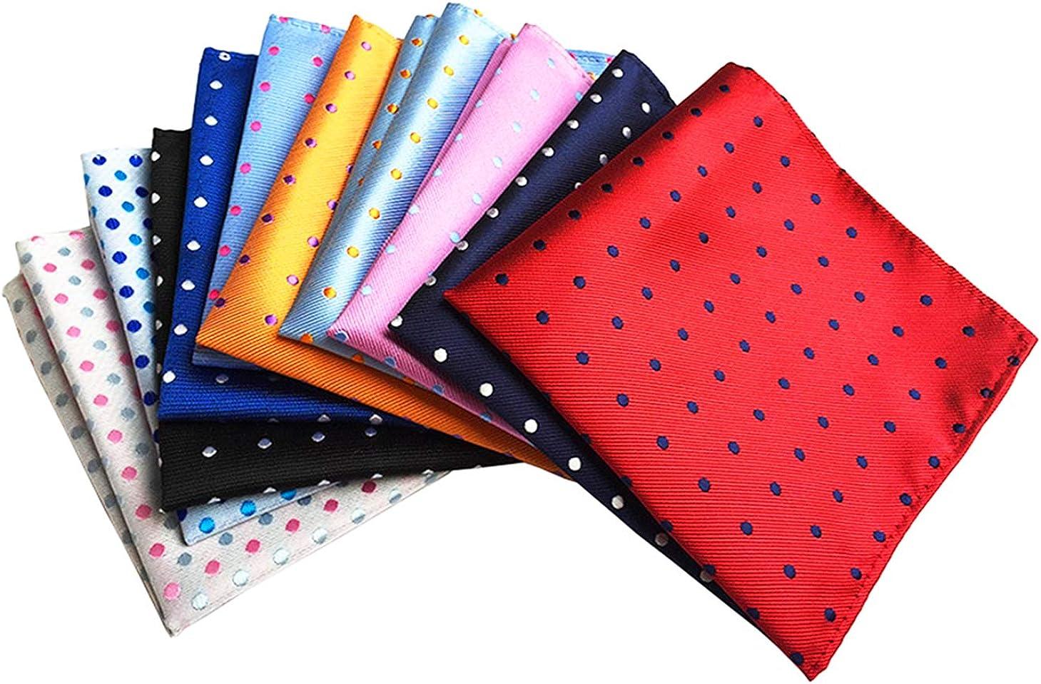 Lot 10 Packs Men/'s High Quality Pocket Handkerchief Premium Square Paisley Hanky