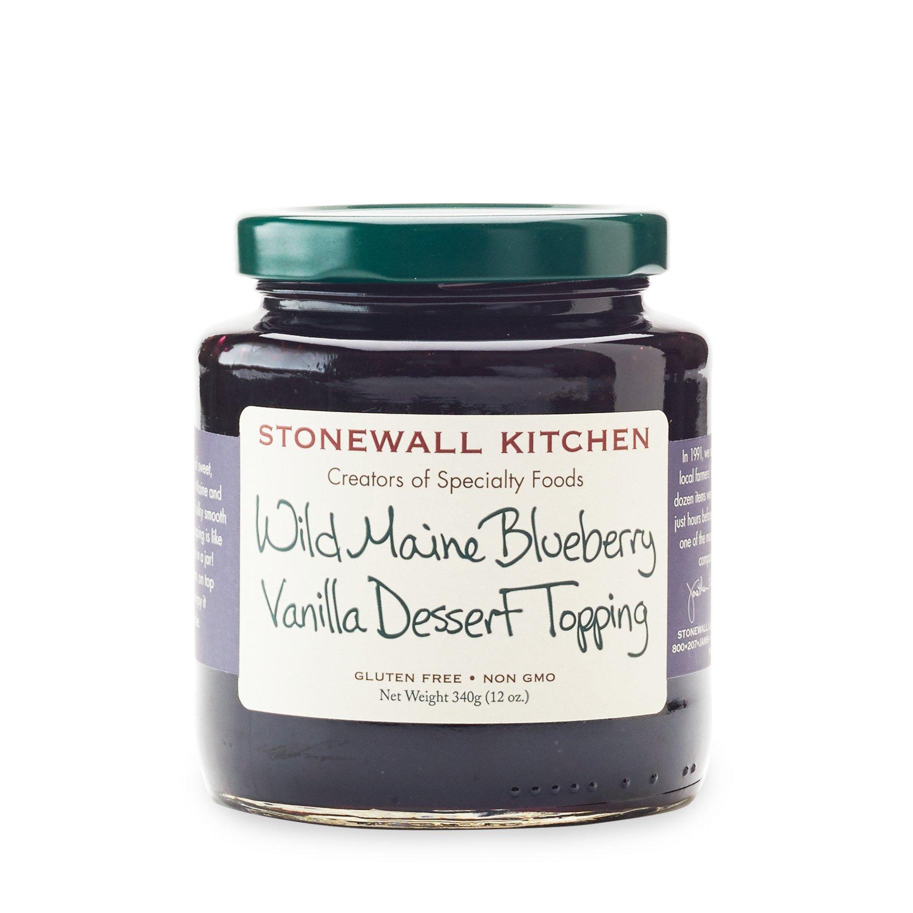 Stonewall Kitchen Wild Maine Blueberry Vanilla Dessert Topping, 12 oz