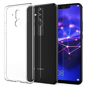 design di qualità 220ad 409cf Caseflex Huawei Mate 20 Lite Case, Crystal Clear Transparent Gel [Slim Fit]  [Anti Scratch] [Shock Absorbing] Protective Cover for Huawei Mate 20 Lite  ...