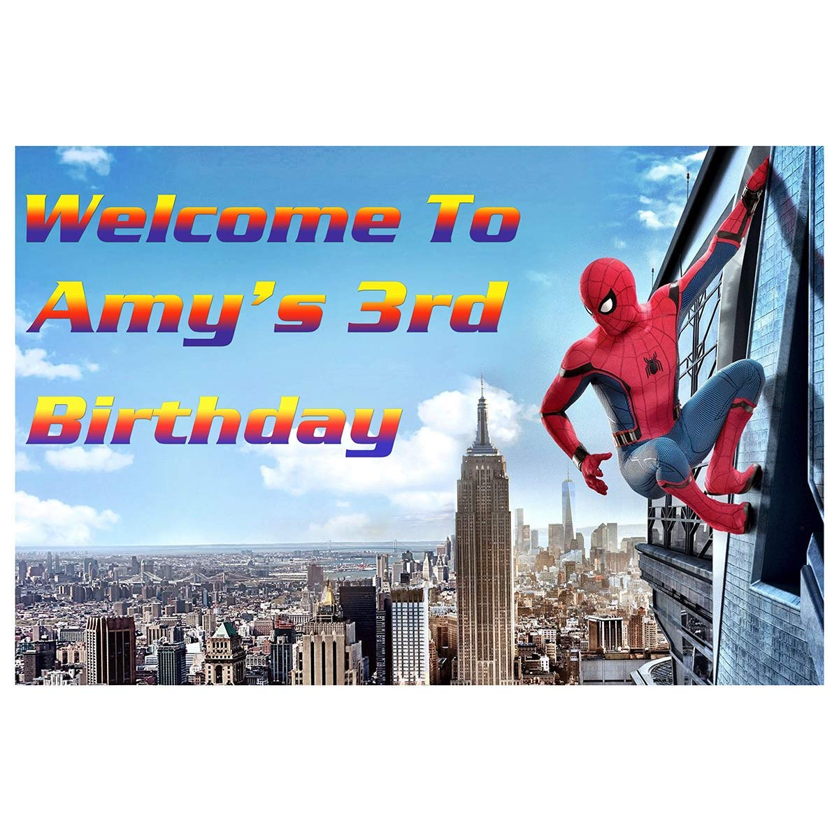 HoRmi Replacement for Marvel Party Decoration Supplies Num624 Backdrop Customized for Birthday Decor