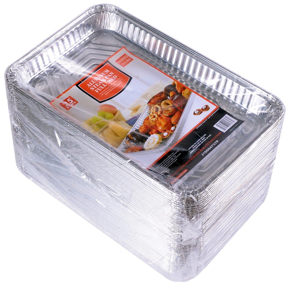 Daxwell Disposable Aluminum Steam Table Pan, Medium, Full Size (2 Packs of 25)