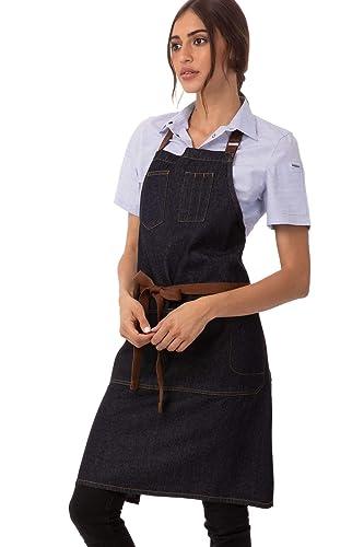 Chef Works Unisex Fartuch śliniakowy Memphis
