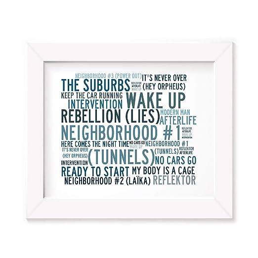 Arcade Fire Poster Print - Anthology - Letra firmada regalo ...