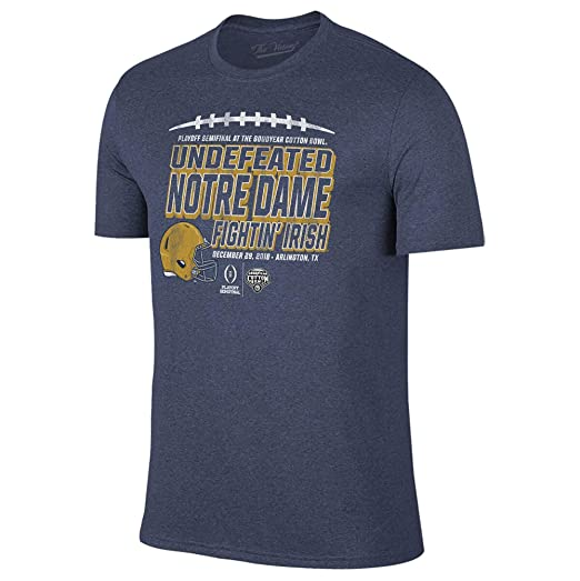 the latest 1160b 6ffb4 Notre Dame Fighting Irish Undefeated - Cotton Bowl Playoff Semifinal 2018 T- Shirt - Small