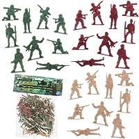 Promobo Lot 72 Figurines Petits Soldats Jouet Enfant Armée Force Militaire
