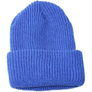 d7f32181d0d Amazon.com  Made In U.S.A. Watch Cap Acrylic Beanie - Blue  Clothing