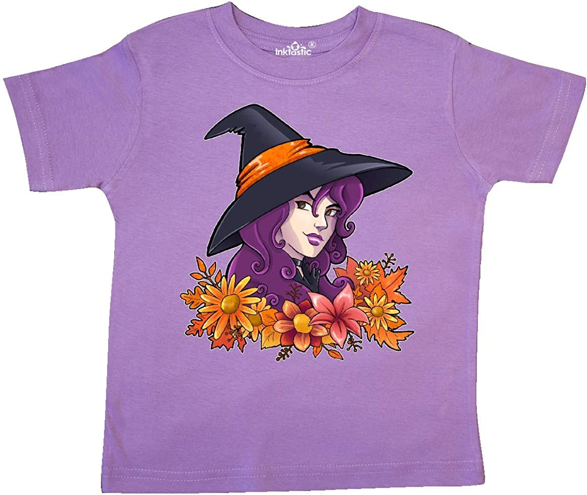 inktastic Witch with Autumn Flowers and Leaves Toddler T-Shirt