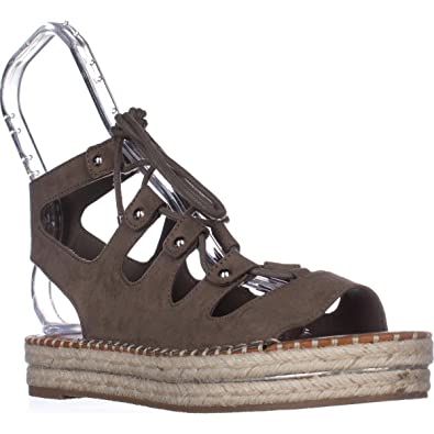 af993df6c749 Guess G KEENY Platform Espadrille Sandals - Taupe  Amazon.co.uk  Shoes    Bags