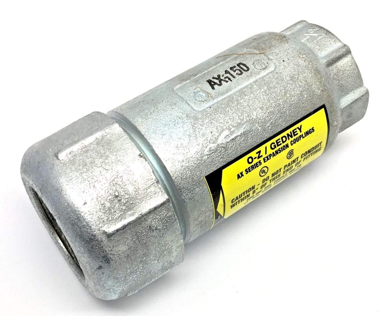 AX-150 OZ GEDNEY 1-1/2 EXPANSION COUPLING FOR RIGID OR IMC CONDUIT, AX SERIES O-Z GEDNEY 1.5 IN, AX150