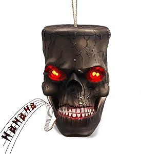Halloween Decorations Scary Skull Head 7.5