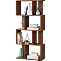[en.casa] Librería 130 x 60 x 24 cm Estante para CDs Soporte para DVDs con 8…