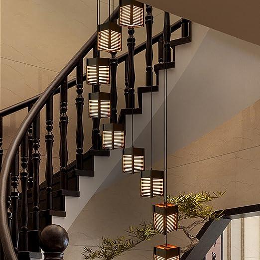 Amos Luminaria Colgante LED Lámpara Colgante contemporánea Luminaria suspendida Lámpara Ajustable en Altura Apta para salón Mesa de Comedor Escalera Dormitorio Lámpara de Techo Lámpara Colgante: Amazon.es: Hogar