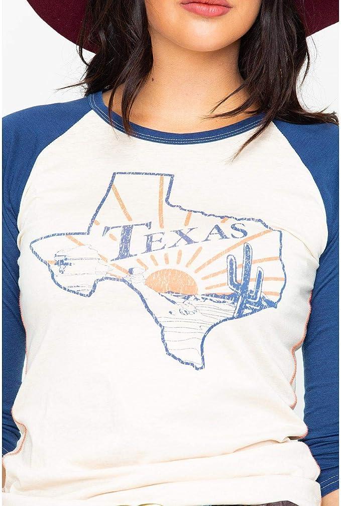 Rock & Roll Cowgirl - Camiseta de béisbol para Mujer - Azul - XX-Large: Amazon.es: Ropa y accesorios