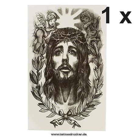 Jesus AX149 - Rosario con Forma de ángel, Color Negro, Negro, 1 x ...