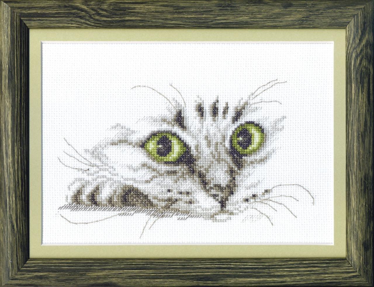 Cross Stitch Kit Cat looks M-267
