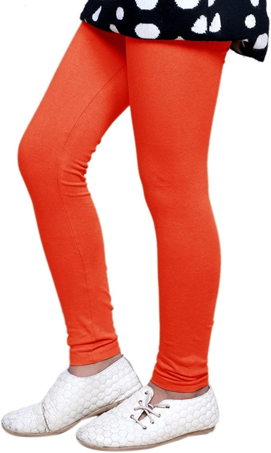 Pack Of 4 Indistar Girls 2 Cotton Solid Legging Pants /_Multicolor/_Size-7-8 Years/_71413141920-IW-P4-30 and 2 Cotton Printed Legging Pants