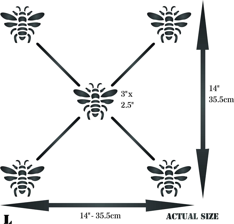 - Classic Allover Insect Lattice Wall Stencils 25 x 25 cm M French Bee Trellis Stencil