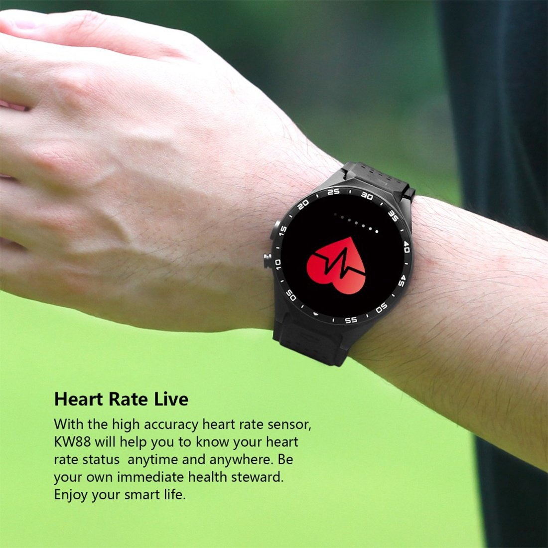 Amazon.com: Smart Watches KW88 Android Smartwatch Heart Rate ...