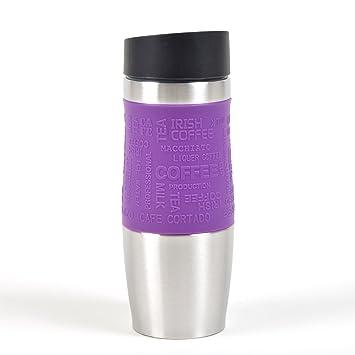 Ocean5 Thermobecher, Kaffeebecher aus Edelstahl mit Einhandbedienung ...