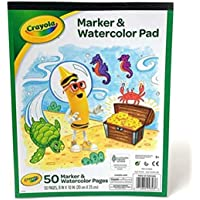 Crayola Marker and Watercolor Pad 8 x10 Inches, 50 pages