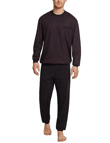 Schiesser - Pijama - para hombre espresso XL