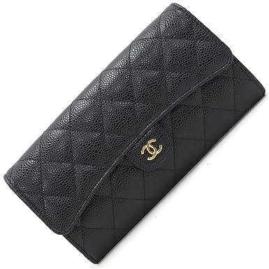 1b2358061fa8 CHANEL(シャネル) 二つ折り長財布 マトラッセ A80758 ブラック キャビアスキン 新品 未使用