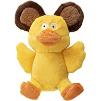 Worldwise 58531-98997-024 goDog Silent Squeak Flips Duck and Bear with Chew Guard Technology Durable Plush Dog Toy…