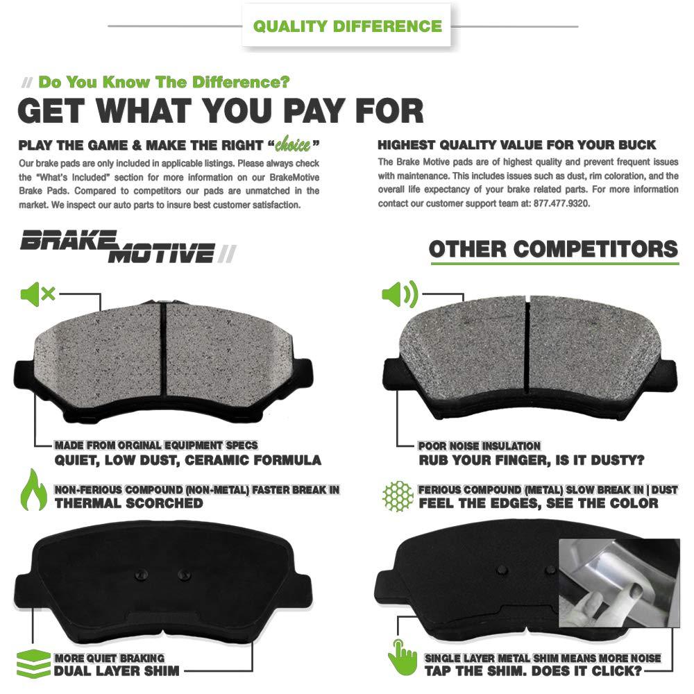 SCITOO Ceramic Discs Brake Pads Kits 8pcs Disc Brakes Pads Set fit 2002 2003 2004 2005 2006 2007 2008 Mini Cooper,Front and Rear