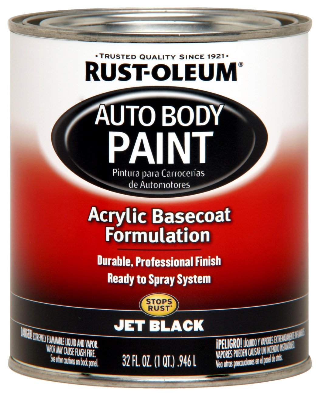 Midnight blue acrylic enamel paint kit auto paint car - Rust Oleum Automotive 253507 32 Ounce Autobody Paint Quart Hugger Orange House Paint Amazon Com