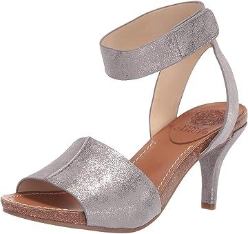 0dfadf75fdd Amazon.com  Vince Camuto Women s Odela Heeled Sandal Grey 6 Medium US  Shoes