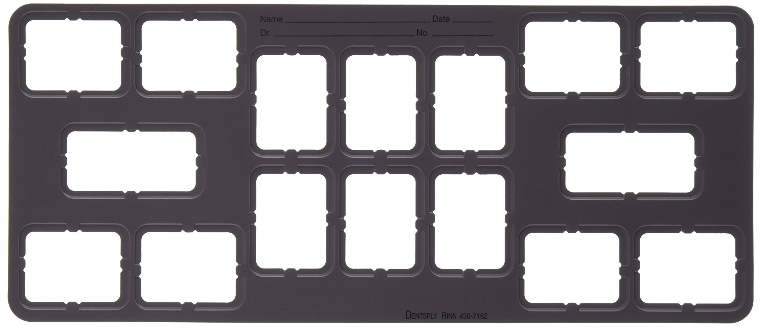 Dentsply 307162 EZ-Tab Plastic Series 30 Open Window, FMX #2, 8H, 6V, #3, 2BW, 124 mm Width, 289 mm Length, Grey (Pack of 100)