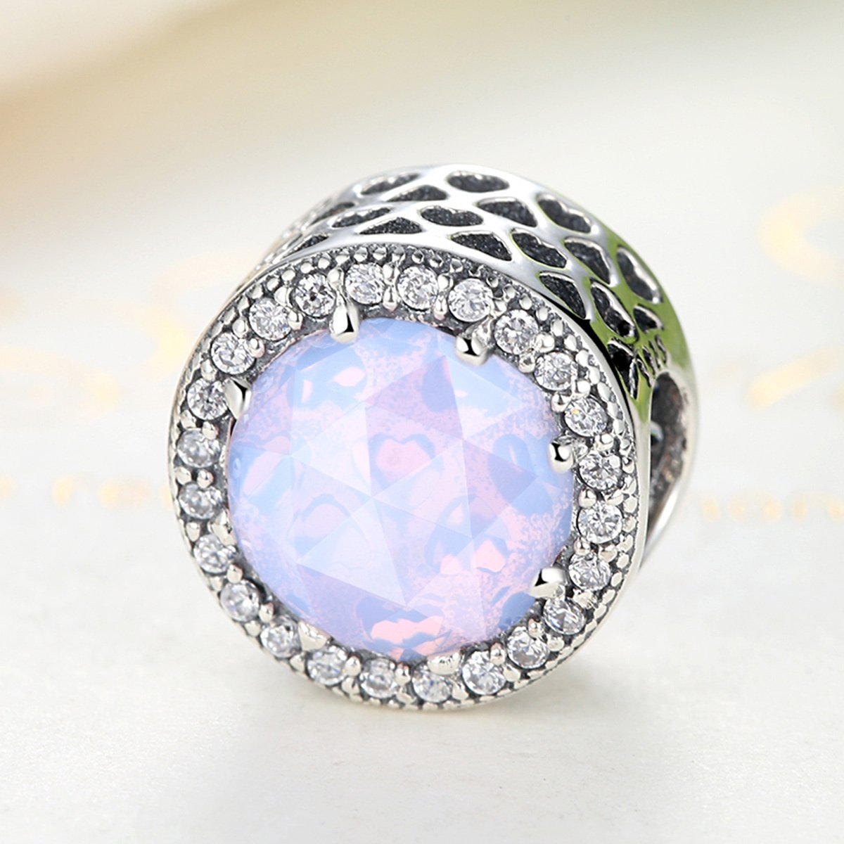 BAMOER Bead and Sterling Silver Charm For Teen Girl Blue Sky Radiant Hearts with Zirconia for Her by BAMOER (Image #4)