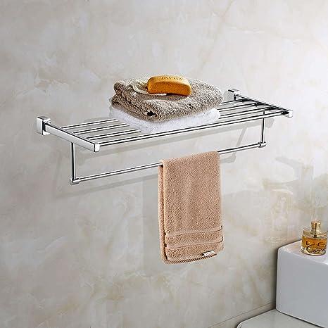 ARCHIS Estante para toallas de baño, estante de baño con soporte de torre resistente al óxido, ...