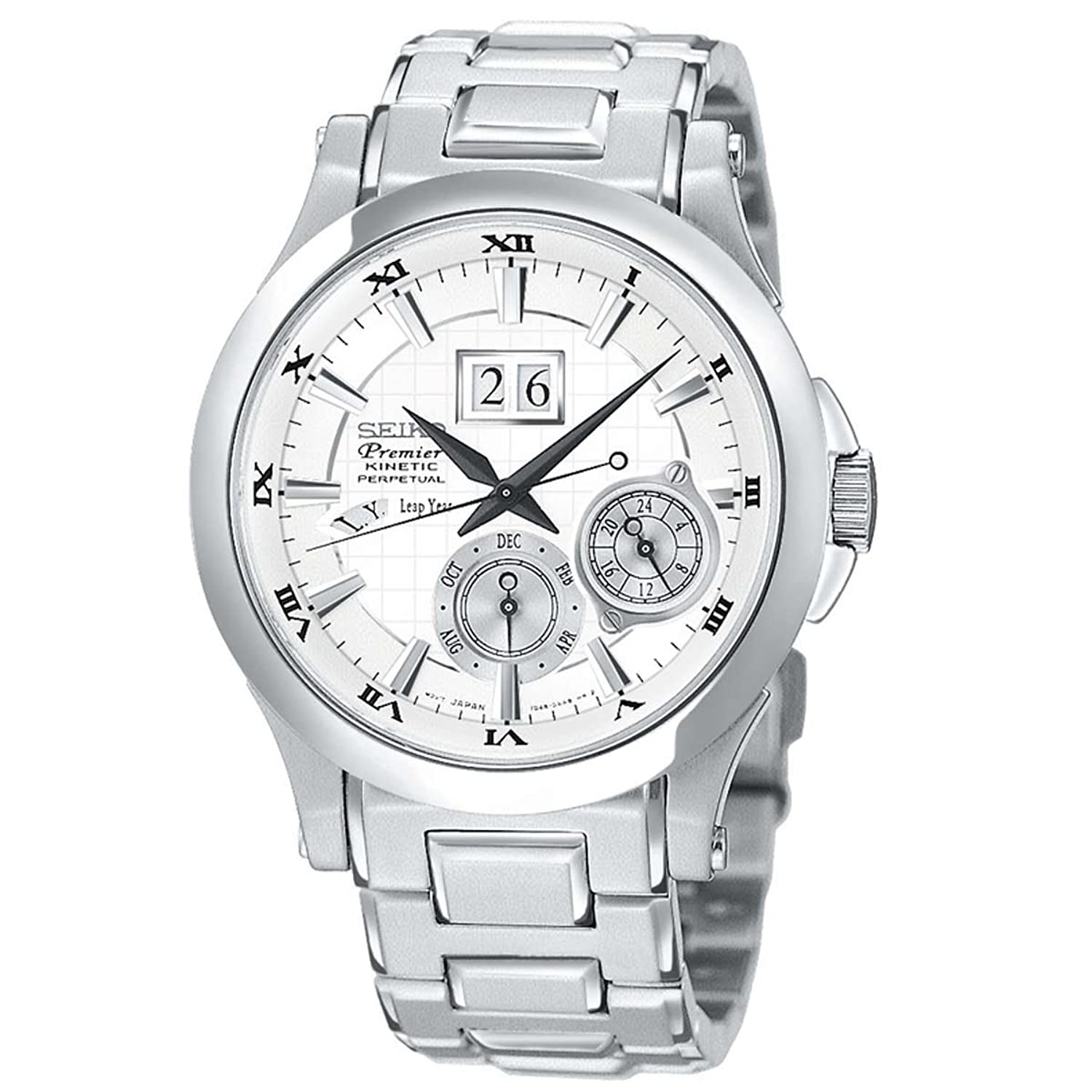 Amazon.com: Seiko Premier Kinetic Perpetual Calendar (Men's Watch): Seiko:  Watches