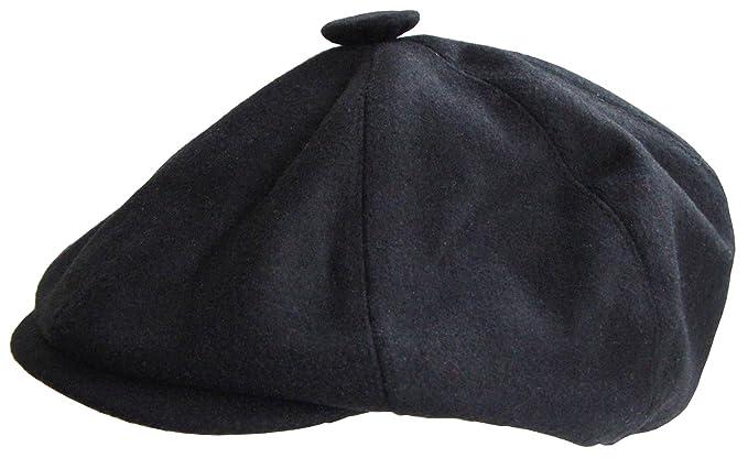 Mens Black Bakerboy Flat Cap  Amazon.co.uk  Clothing 823b1bd8caa