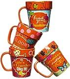 Gardener's Whimsy Terra Cotta Flowerpot Mugs – Set of 4