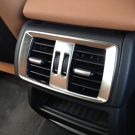 Pegatinas para marco de ventilación de aire acondicionado trasero de coche de carbono ABS cromado para X3 F25 2011-2015 X 4 F26 2013-2016: Amazon.es: Coche ...