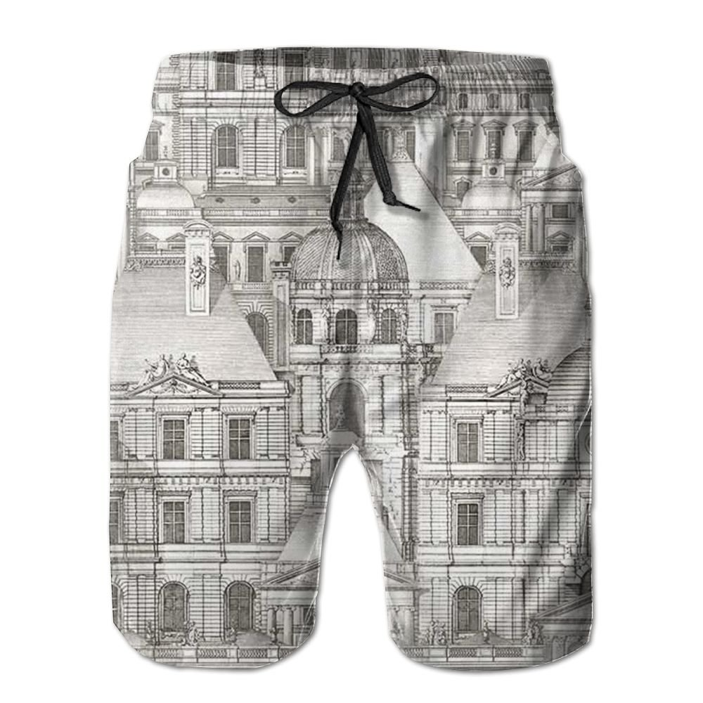 DTMN7 City Mens Beach Shorts Casual Classic Printing Quick Dry Swim Trunks With Pockets