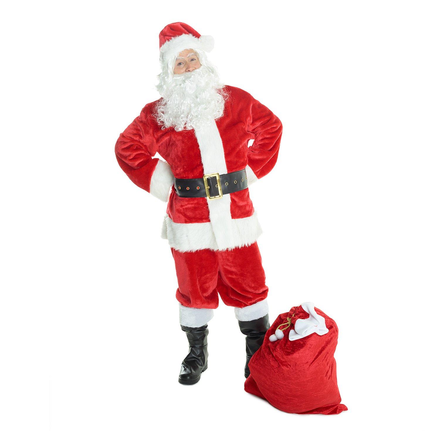 a175de4457d Amazon.com  Mens Santa Claus Costume Father Christmas Suit for Men Festive  Outfit  Clothing