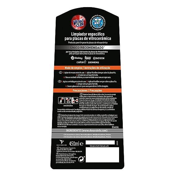 Vitroclen Crema Limpiadora Específico para Placas de Vitrocerámica Regular - 900 ml